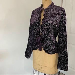NWT Velour/ Velveteen Jacket. Size 16.